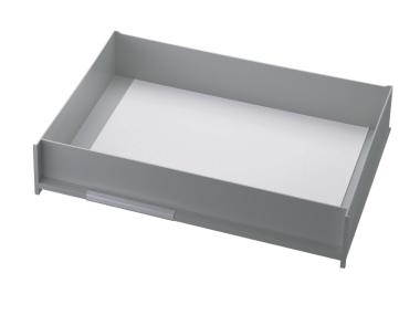 Schublade für Ablagen-Box Typ 16008, A3 grau, Vorderseite geschlossen
