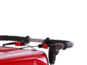 Kommissionierwagen Aktenwagen Trolley BT6  rot mit lenkbaren Vorderrädern