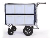 Kommissionierwagen Akten Transportwagen Trolley BT6 Farbe grau mit lenkbaren Vorderrädern