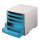 Ablagesysteme 2 Stück styrobox grau hellblau Ablageboxen