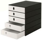 Ablagesysteme 10 Stück styroval 5 Schub. geschl. black & white Ablageboxen