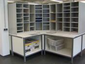 Postverteilstationen  Sortierschränken  Sortierfacheinheit  Sortiereinheiten