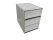 Ablageboxen styro Typ 16005 individuell 3 Fächer 94 mm A4 grau weiss - 2 Stück
