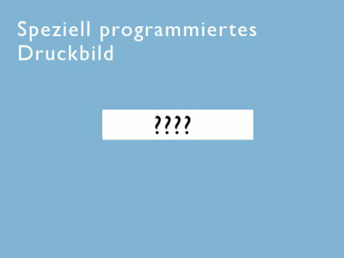Speziell programmiertes Druckbild beim Kauf eines jetStamp 792