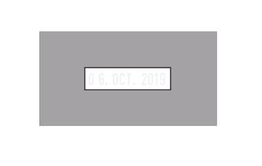 Zusatz-Klischeeträger für Eingangsstempel 510