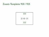 Zusatz-Textplatte für Elektrostempel ChronoDater 920 / 922 / 925 aus Derlrin