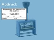 Datumstempel Modell D65 mit Textplatte (Zg 4)