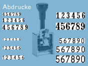 Numeroteur Modell C (Zs 6 | Zg 5,5)