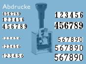 Numeroteur Modell C (mehr als 8 Zs | Zg 3 - 6,5)