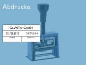 Numeroteur Reiner DN65a mit Datum und Textplatte (Zs 7   Zg 4)