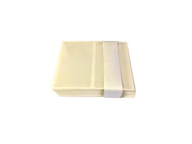 RENZ Visitenkartentaschen selbstklebend  ca. 105x60 mm transparent - 100 Stück