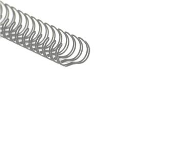 Drahtbinderücken Teilung 3:1 silber ø 11 mm (7/16 Zoll) für ca. 80 Blatt - 100 Stück
