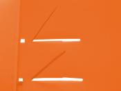 QUICK Schnellhefter A4 transparent matt orange