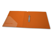 Ringbuch A4 mit 2-Ring Mechanik Ø 20mm transparent matt orange