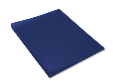 Ringbuch A4 mit 2-Ring Mechanik Ø 16mm transparent matt dunkelblau