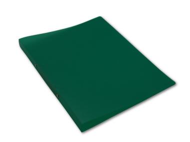 Ringbuch A4 mit 2-Ring Mechanik Ø 16mm transparent matt grün