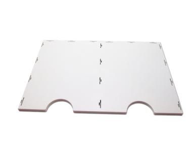 Boden / Deckel zum Bausatz für styrodoc duo oder duo JUMBO Erweiterung grau