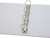 Präsentations-Ringbuch mit 4-Ring Kombi-Mechanik ø 40mm, 54mm weiss