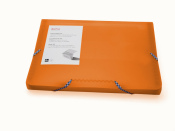 Fächermappe A4 transparent matt orange