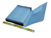 Fächermappe A4 transparent matt blau