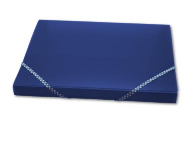 Ablagebox A4 transparent matt dunkelblau