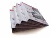Präsentations-Ringbuch mit 4-Ring Set weiss