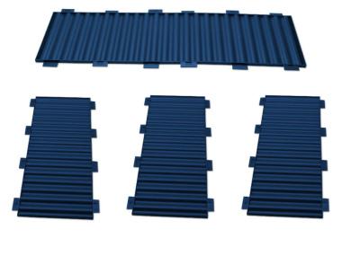 Bausatz für styrodoc duo JUMBO Erweiterung blau