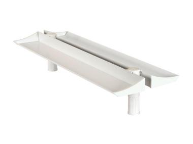 Schreibtischablageschale duo Top Board 100 cm lichtgrau