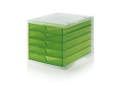 Ablagesysteme styroswingbox light transparent kiwi 4 Stück