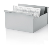 2 Stück Karteikasten DIN A4 quer, grau