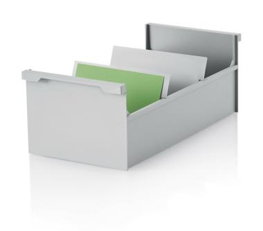 2 Stück Karteikasten DIN A6 quer, grau