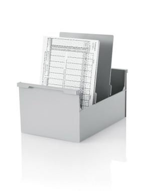 2 Stück Karteikasten DIN A5 hoch, grau