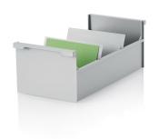 5 Stück Karteikasten DIN A6 quer, grau