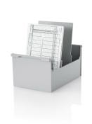 5 Stück Karteikasten DIN A5 hoch, grau
