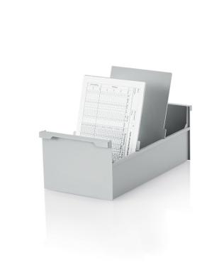 5 Stück Karteikasten DIN A6 hoch, grau