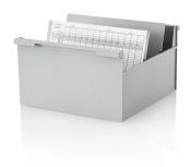 10 Stück Karteikasten DIN A4 quer, grau