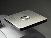 Frankiermaschine PostBase 100 mit Briefzuführung - klassisches Design silber metallic - frank it