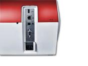 Frankiermaschine PostBase 100 mit Briefzuführung - edles Design rot metallic - frank it