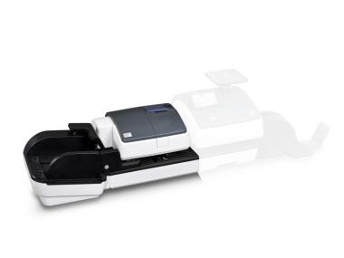 Automatische Briefzuführung für PostBase 100 - edles Design blaugrau metallic