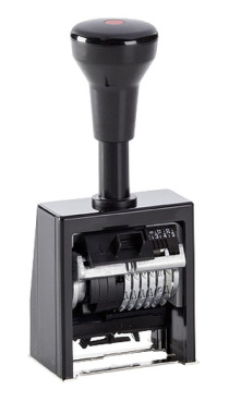 Numeroteur Reiner B6K (Zs 6   Zg 4,5) ohne vorstehenden Nullen   Schriftart: Block   Stempelfarbe: schwarz