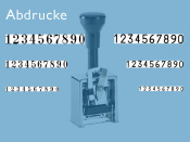 Numeroteur Modell C1 (Zs 7 | Zg 3,5) Schriftart: Antiqua | Stempelfarbe: rot