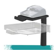 Schwenkarm 5021 schwarz, mit transparenter Ablageschale