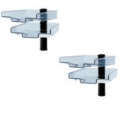 Schwenkflügler 2er-Set, schwarz, mit 2 transparenten Schalen