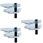 Schwenkflügler 3er-Set, schwarz, mit 2 transparenten Schalen