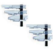 Schwenkflügler 2er-Set, schwarz, mit 3 transparenten Schalen