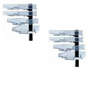 Schwenkflügler 2er-Set, schwarz, mit 4 transparenten Schalen