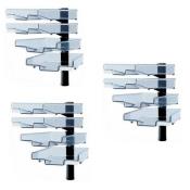 Schwenkflügler 3er-Set, schwarz, mit 4 transparenten Schalen