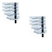 Schwenkflügler 2er-Set, schwarz, mit 5 transparenten Schalen