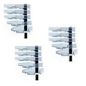 Schwenkflügler 3er-Set, schwarz, mit 5 transparenten Schalen