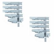 Schwenkflügler 2er-Set, lichtgrau, mit 5 transparenten Schalen